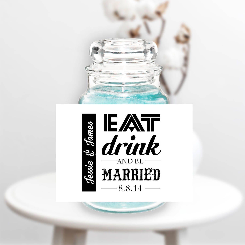 Wedding Candle Label Wedding Candle Wedding Favors