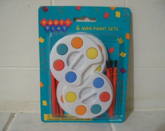 6 Mini Paint Sets With Brushes #Ty103