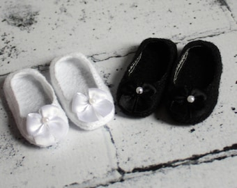 Doll Shoes to Fit Wellie Wishers.Doll Shoes to Fit Hearts for Hearts.White Doll Shoes.Black Doll Shoes.Shoes to Fit American Girl Doll.