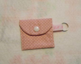 Mini coin purse or token holder, key chain
