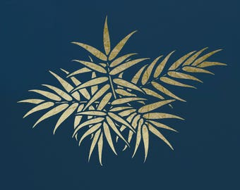 Bamboo Leaves,  Art Stencil  ST34