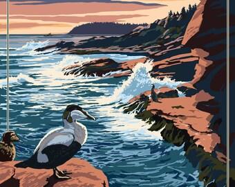 Acadia National Park, Maine - Mount Desert Island - Lantern Press Artwork (Art Print - Multiple Sizes Available)