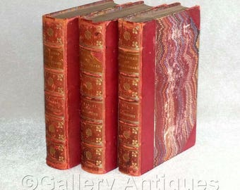 The Works of William Shakespeare in Three Volumes - The Victoria Edition - Set of Three Antiquarian Hardback Books 1903 / 1904 antiques