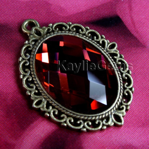 pendant jewel rubies with focu made and window rose gold in en assisi diamonds humilis