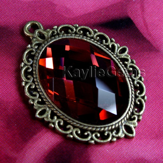 new teardrop necklace pendant with cord alternate jewel arrivals red
