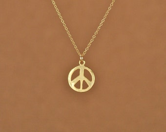 Peace sign necklace Etsy