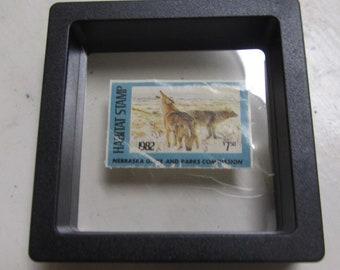 1982 Nebrska games and parks commission habitat stamp NRH-6