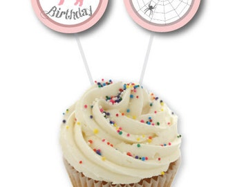 Charlotte's Web Cupcake Toppers - Print At Home! Charlotte's Web Birthday Party Printable Toppers /Circle Tags (4 designs)