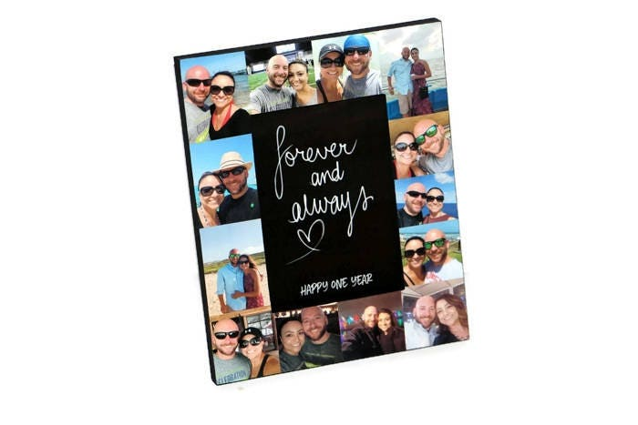 1 year Anniversary Picture Frame   Collage Frame   Forever and ...