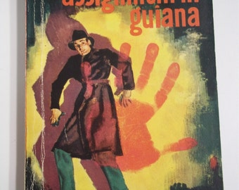 Assignment In Guiana by George Harmon Coxe Dell Mapback #321 1942 Vintage Mystery Paperback