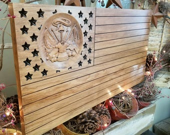US Army 3D Flag with Vintage finish