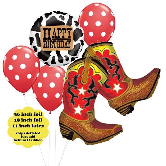 Western Decor For Birthday: Cowboy Birthday Balloon Bouquet Western Party Decorations