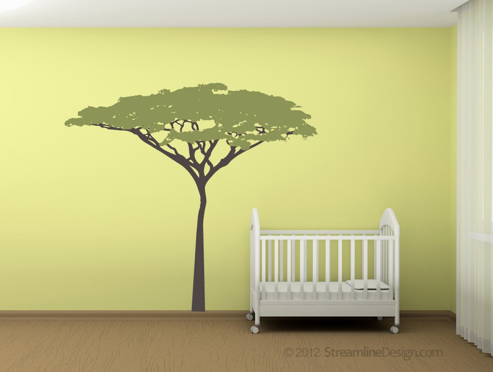 Six Foot Tall Acacia Tree Removable Vinyl Wall Decal large