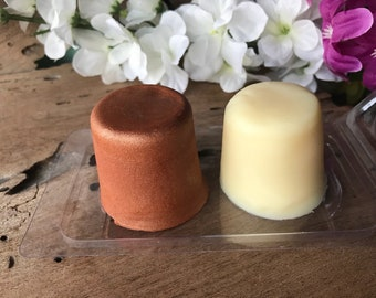 Mini Travel Lotion and Bronzer Bar - Vegan Solid Lotion Bar - Organic Coconut Oil - Creamy Coconut Scent- All Vegan NO BEESWAX - Body