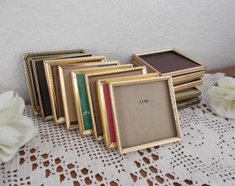 Vintage Gold Metal Picture Frame 4 x 5 Photo Decoration Midcentury Hollywood Regency Rustic Shabby Chic Wedding Decoration Home Decor Gift