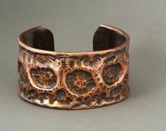 Copper Cuff, Copper Bangle, Copper Bracelet, Rustic Copper Cuff, Cuff Bracelet, Textured Cuff, Textured Bracelet, Hammered Copper,