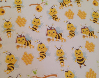 Set of bee stickers -  for your EC,PP, planner