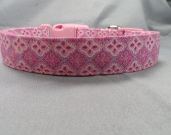 Pink and Purple Scroll Dog Collar