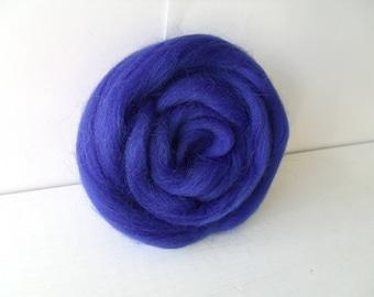 25g wool felting or spinning Merino Cardee combed Ultramarine blue color