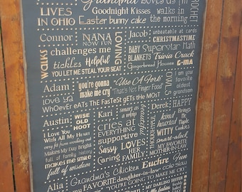 """Personalized Carved Wooden Sign - """"Reasons Why We Love You!"""""""