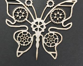 Steam Punk Butterfly Laser Cut chipboard