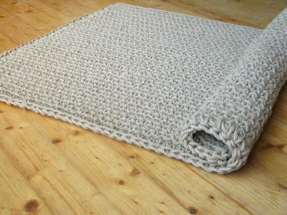Crochet tappeto porta iuta / juta corda Tappeto / Zerbino /