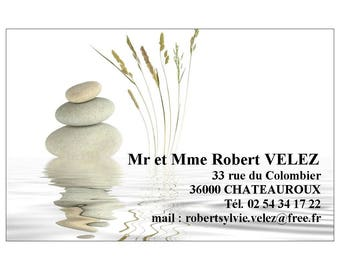 Quadrie cards customized for individual or professional