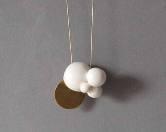 Necklace Porcelain Bubbles, Necklaces, Ceramic jewelry