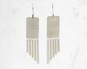Chain Fringe Earrings | Chain Tassel Earrings | LG ZERDA Earrings