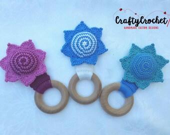 Crochet Teething Rattle