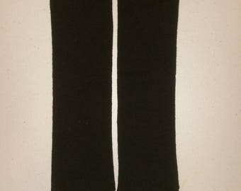 Solid Black Leg Warmers. 13 inches long. Ready to Ship.