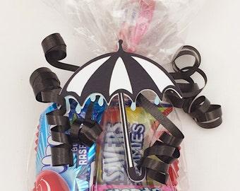 Umbrella Party - Umbrella Shower - Umbrella Baby - Umbrella Baby Shower - Umbrella Gift - Umbrella Party Favors - Umbrella Favor Bag Tag