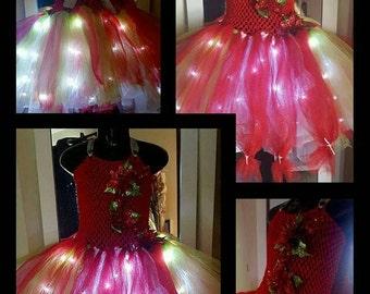 Princess Holly Lights light up LED Tutu dress