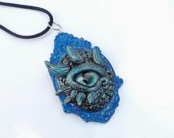 Dragon eye necklace, dragon eye pendant, dragon eye, water dragon, dragon jewelry, original necklaces