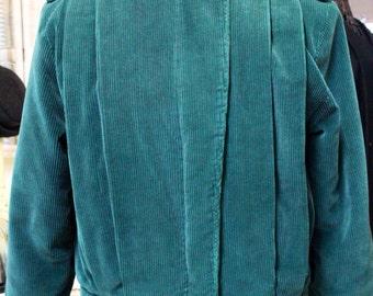 Teal Corduroy Jordache Women's Jacket Size Small