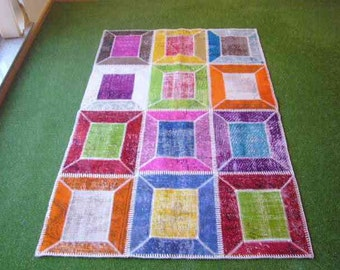 Patchwork rug Multi 26 - 4x6 ft. (121x184 cm)