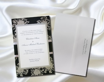 Elegant Custom Made & Layered Wedding Invites with RSVP cards 25 sets to a Package