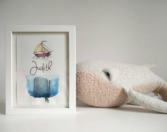 A5 poster customizable Moby Dick