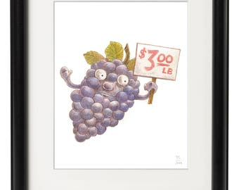 Grapes for Sale ( 8x10 Print )