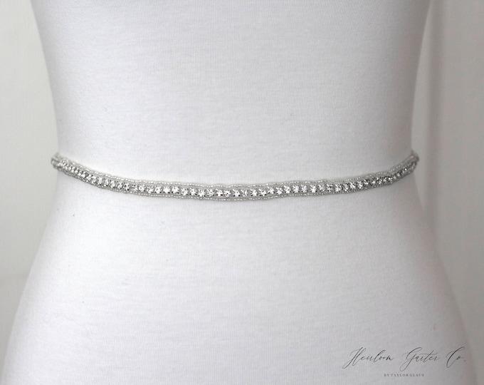 Crystal Bridal Belt, Bridal Sash, Wedding Belt, Wedding Sash Rhinestone Sash, B42