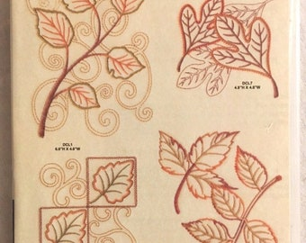 "Anita Goodesign ""LEAVES"" 22 Embroidery Designs CD"