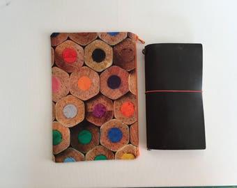 Planner Bag - Traveler's Notebook - Midori - Moleskine - Leuchtturm - TN bag - TN Pouch - Journal Bag - Personal Planner - Chic Sparrow