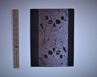 Abstract Ant Print - Rose Gold