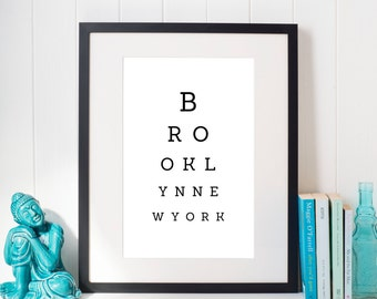 Eye Test Posters Funny Cute Sayings / Gift / For the Home