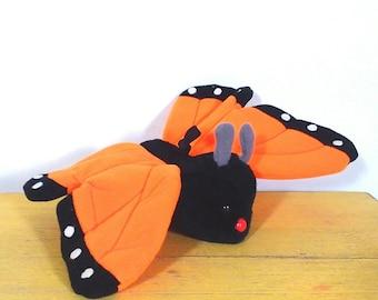 Vtg 1981 R. Dakin Orange Monarch Butterfly Plush Toy