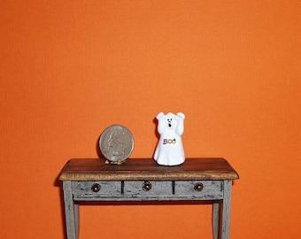 Dollhouse Miniature Halloween Ghost Boo Ceramic