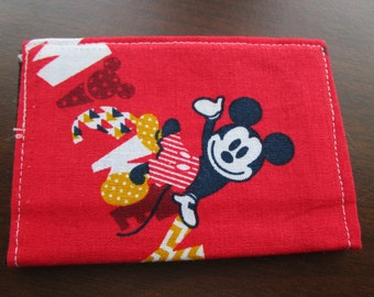 Disney Minimalist Wallet, Mickey Mouse, SALE,  Disney Cruise, Travel Wallet, Card Holder, Credit Card Wallet, Business Card Holder,