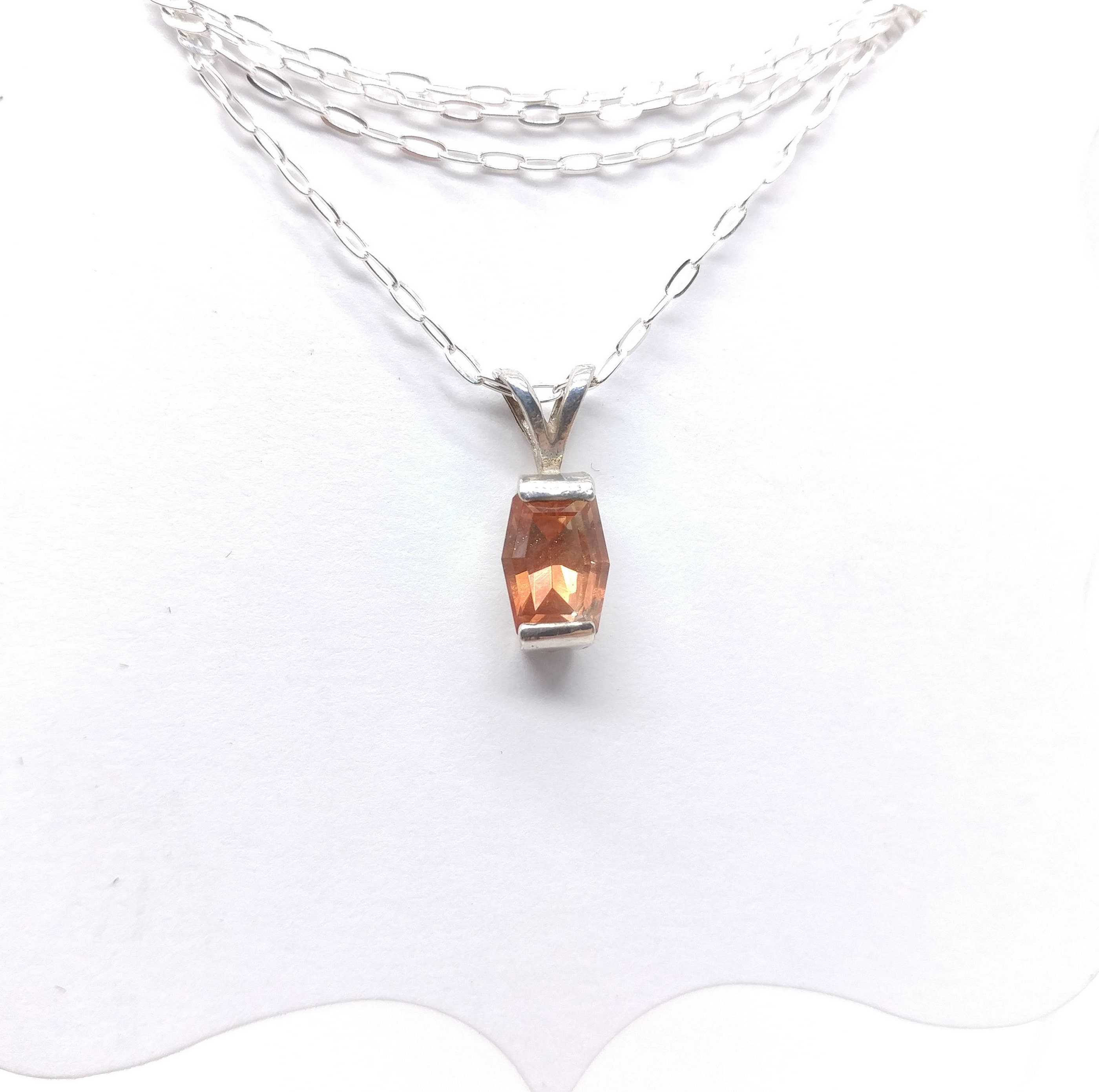 sunstone necklace product pendant jkonikoff long druzy