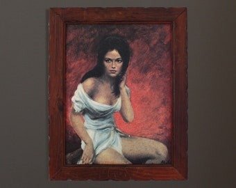 "1960s ""Broken Silence"" Retro Framed Textured Print"
