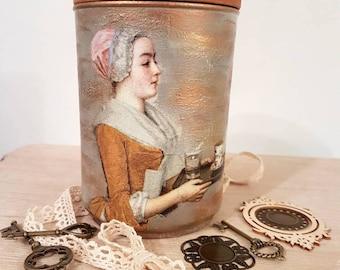 Vintage look storage jar